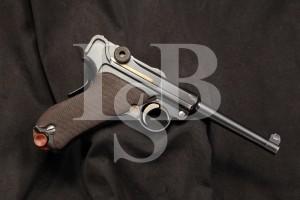 DWM Model 1906 7.65MM American Eagle Luger, Matching S/N's, C&R