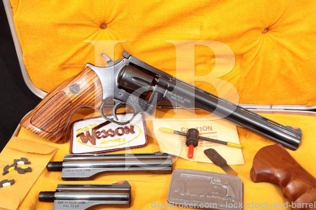 Dan Wesson Monson 22V Pistol Pack Four Barrel SA/DA Double Action Revolver Case & More .22 LR