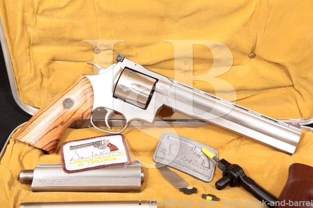 "Dan Wesson Monson 744-VH, Stainless 6"" & 8"" SA/DA Double Action Revolver, Case & More .44 Magnum"