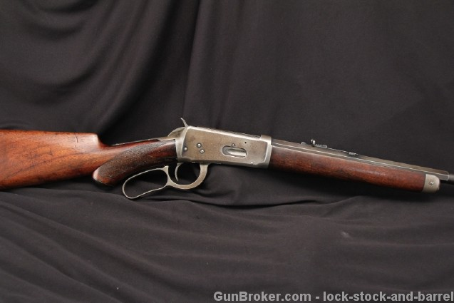 Deluxe Winchester Model 1894 .32-40 Lever Action Button Mag, Half Round Bbl MF'D 1896 - Antique