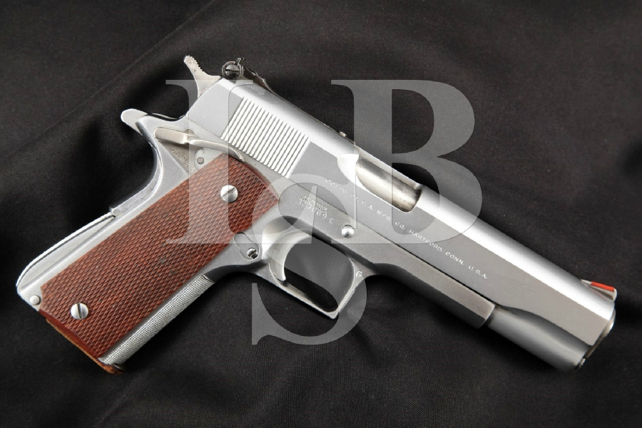 "EARLY A.D. Swenson Colt Government Model 1911A1 1911-A1, Hard Chrome 5"" RARE CUSTOM SA Semi-Automatic Pistol, MFD 1968"