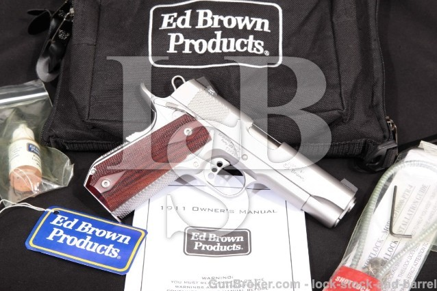 "Ed Brown Kobra Carry Model KC-SS-CAL2 Commander Stainless 1911 4 1/4"" .45 ACP Semi-Auto Pistol"