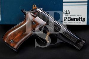 Engraved Beretta Model 84 Cheetah .380 ACP Semi-Automatic Pocket Pistol & Box
