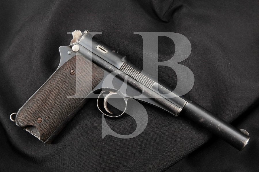 """Esperanza Y Unceta Model Pistola Campo-Giro de 9mm Modelo 1913-16, Blue 6 ½"""" RARE SA Semi-Automatic Pistol, MFD Ca. 1917 C&R"""
