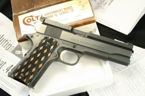 F. Bob Chow Custom Colt Mark IV Series 70 1911 – In The Box & With The Receipt