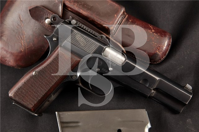 Fabrique Nationale FN Nazi Model 1935 Hi-Power P35 WWII 9mm Pistol, Mags & Holster - WaA103, MFD 1941