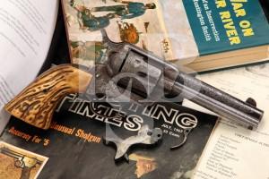 Factory Engraved 1st Generation Blackpowder Frame Colt .45 SAA Single Action Army, Documented Johnson County Range War Gun, MFD 1890