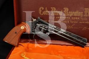 Factory Engraved Colt .22 LR 6 INCH Diamondback Double Action Revolver & Factory Case