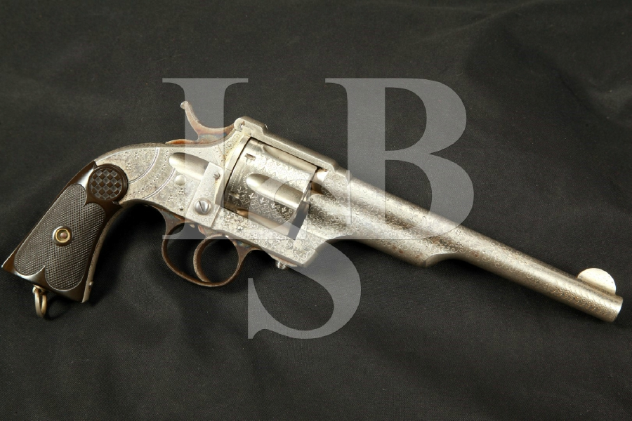 Factory Engraved Merwin Hulbert & Co. 3rd Model Army .44-40 WCF Double Action Revolver, MFD 1883-1887