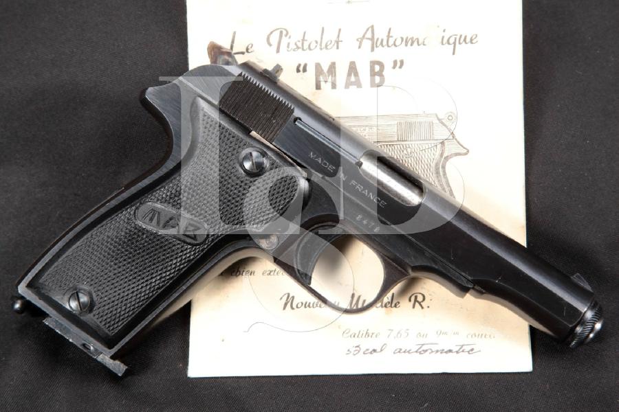 "French MAB Model R, Blue 4"" SA Semi-Automatic Pistol, MFD 1951-1963 C&R"