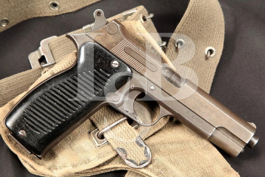 "French MAC Modele 1950, Blue 4 ½"" SA Semi-Auto Pistol & Holster, MFD 1953-1954 C&R"