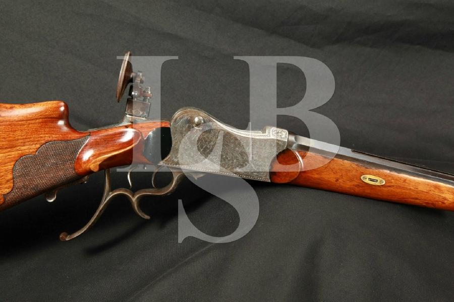 "German ""System Luck"" Martini Schuetzen Single Shot Benchrest Target Rifle 30"" Barrel MFD 1891-1912,Engraved, Double Set Triggers, C&R"