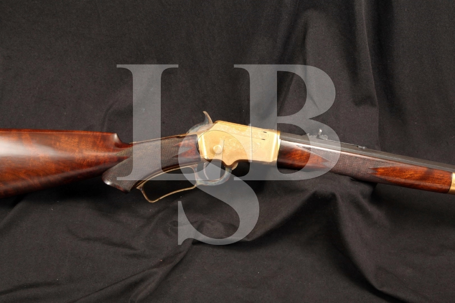 Gold Plated & Engraved by J. Lowe, Marlin Model 1891 .32 RF Lever Action Rifle, MFD 1893 - Antique