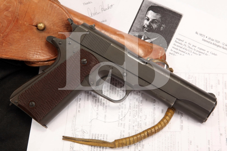 General Arthur Hanket Bringback Colt Model 1911A1 .45 ACP Semi Auto Pistol & Holster - Documented C&R