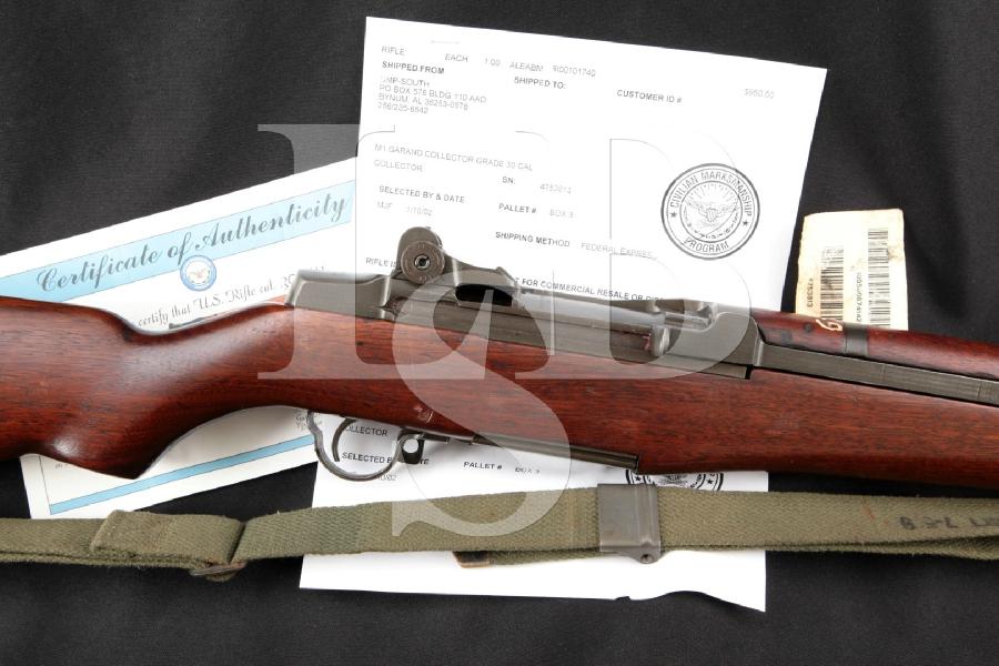 "Harrington & Richardson (H&R) M1 Garand CMP Collector Grade, Parkerized 24"" Matching Semi Automatic Rifle, MFD 1953 C&R"