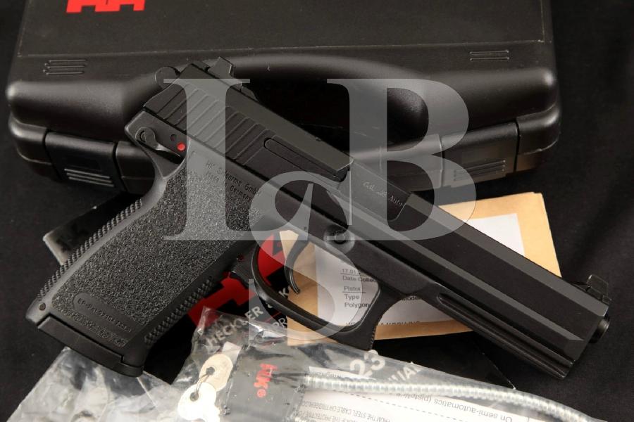 """Heckler & Koch H&K HK Mark 23 MK23, Near Mint Hostile Environment Black Finish 5.87"""" DA Semi-Automatic Pistol, Case & More MFD 2008"""
