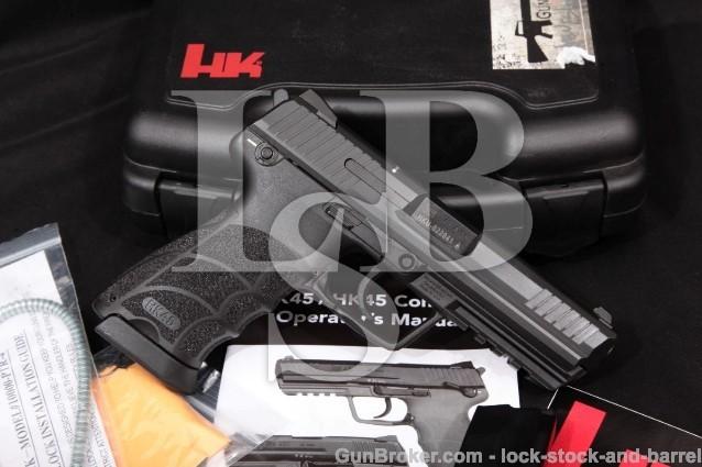"""Heckler & Koch H&K HK Model HK45 HK-45, .45 ACP 4 1/2"""" SA/DA Semi-Auto Pistol & Case, MFD 2012"""