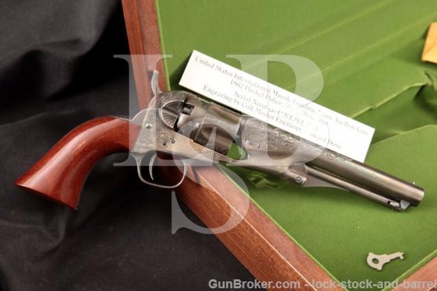 Howard Dove Engraved Colt 1862 Pocket Police .36 U.S.I.M.L.-3 US Muzzle Loading Team Auction Gun