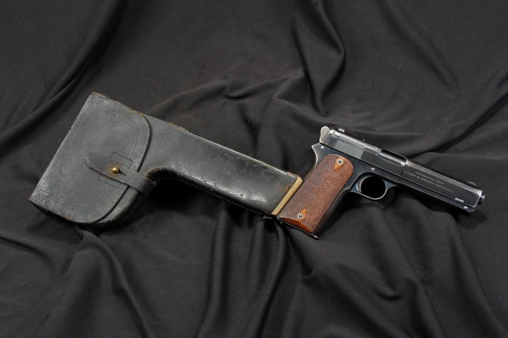 Rare Shoulder Stocked Colt Model 1905 .45 ACP Semi Auto Pistol