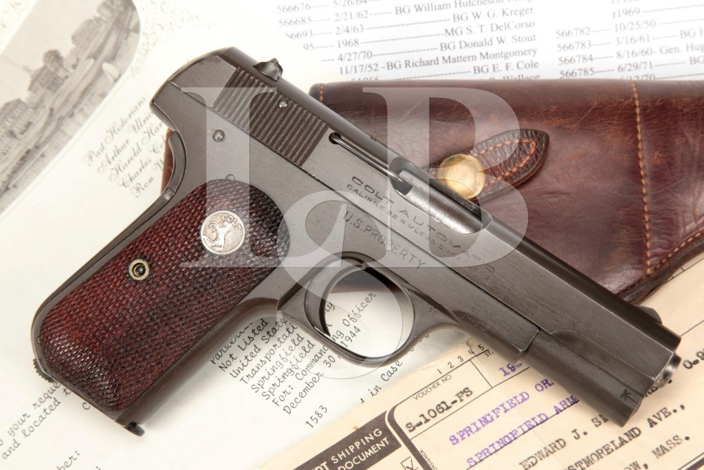 U.S. Property Colt Model 1903 .32 ACP, Issued to Major Edward J. Smith 11/9/1945