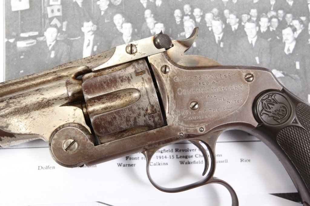 """9"""" Smith & Wesson S&W Model 320 Revolving Rifle, 1889 Conlin's Shooting Gallery Prize Awarded to P.J. Dolfen"""