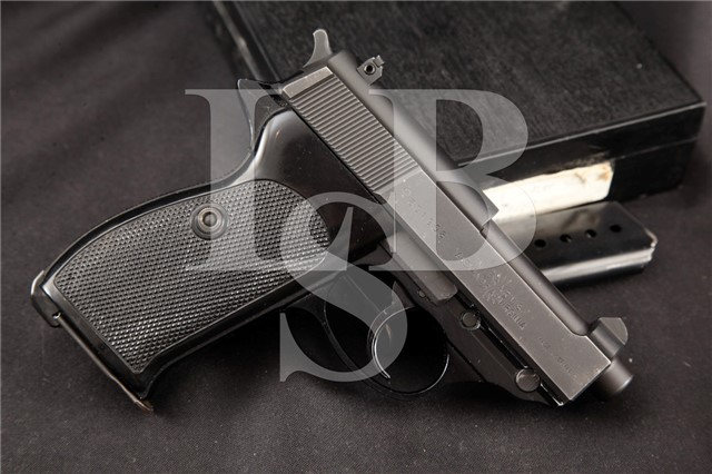 "Interarms Walther West Germany P38-K P38K 9mm RARE 2.75"" Semi Automatic Pistol & Box, MFD 1977"