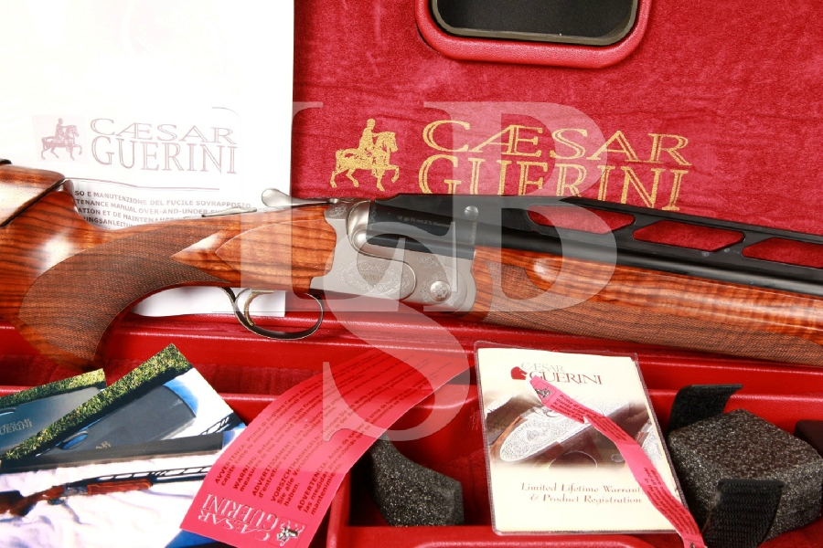Italian Caesar Guerini RH Summit Trap Unsingle 32 Maxis Choke Single Barrel Shotgun & Case, MFD 2007