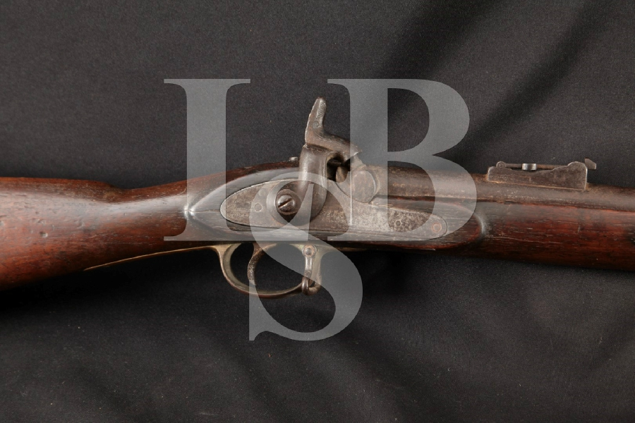 """J. E. Barnett P-1853 Enfield """"Tower"""" Musket, In The White 39"""" Percussion Single Shot Rifle, MFD 1860s Antique"""