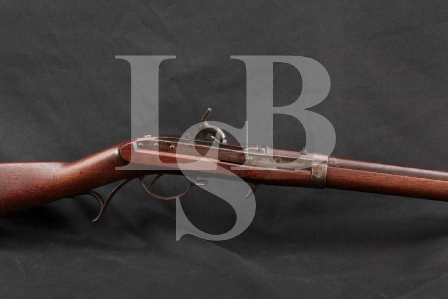 """J.H. Hall Harpers Ferry U.S. Rifle Model 1819, 2nd Production Conversion, Blue & Case Hardened 32 ½"""" Percussion Breech Loaded Rifle, MFD 1831 Antique"""