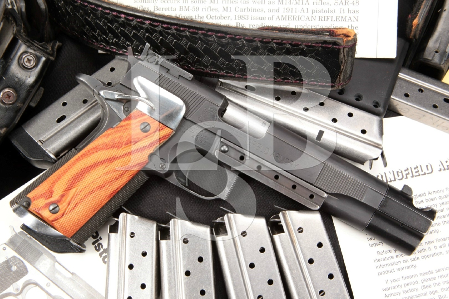 """Jim Boland Custom Springfield 1911A1, Parkerized 6"""" Semi-Automatic IPSC Open Competition Pistol & Rig"""