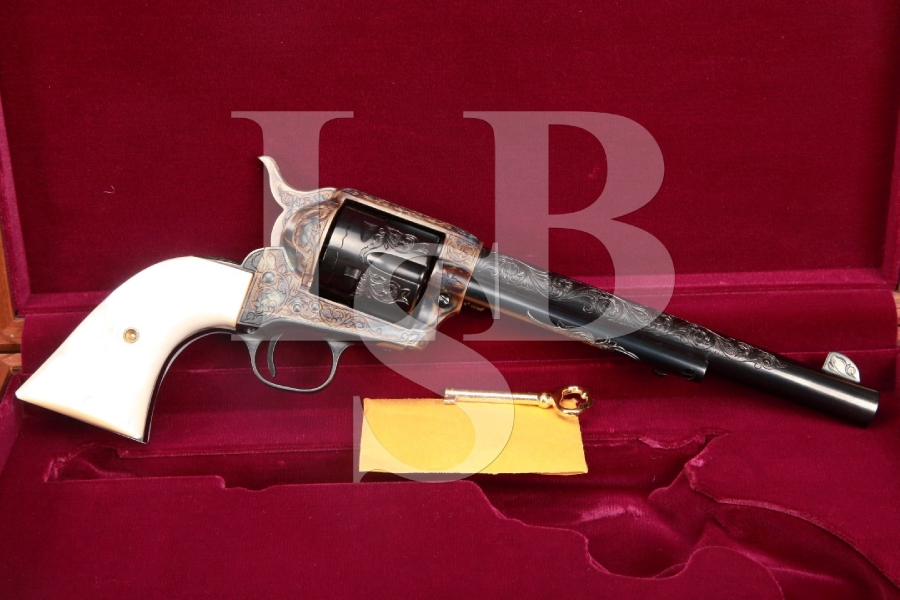 Kenny Majors Master Hand Engraved 2nd Generation Colt SAA Blue & Case Color Single Action Army Revolver, C&R
