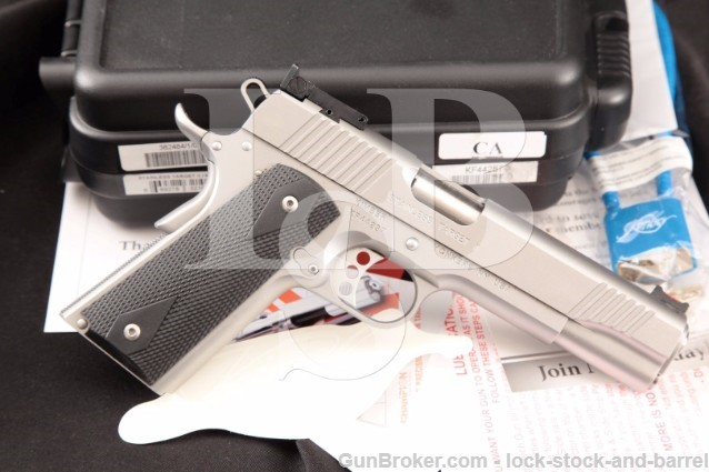 """Kimber Target II Stainless 9mm 5"""" 1911 Clone Semi-Automatic Pistol & Case, CA & PPT OK"""