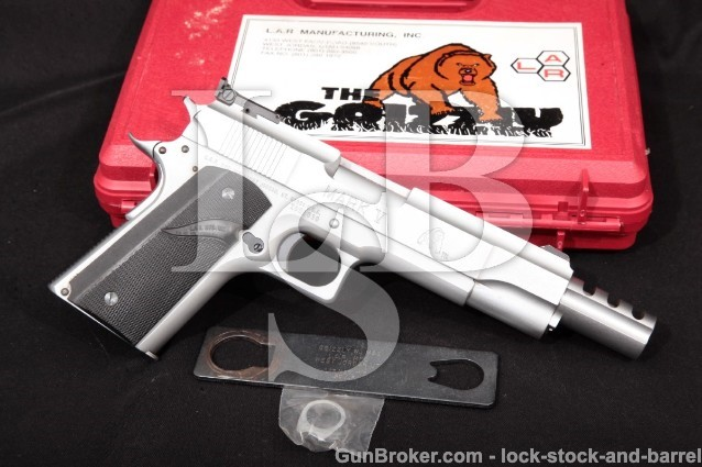 L.A.R. Grizzly 50 Mark V, .50 AE Semi-Auto Pistol