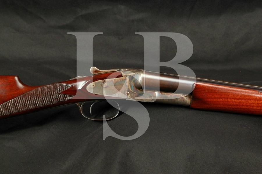 "LC Smith, Hunter Arms Field 00 Grade Hammerless Single Trigger Blue, Case Colored 28"" SXS Double Barrel Shotgun MFD 1909 C&R"