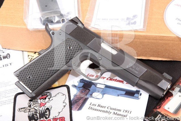 "Les Baer Ultimate Tactical Carry 1911 Blue 5"" SA Semi Auto Pistol & Box, MFD 2011 .45 ACP"