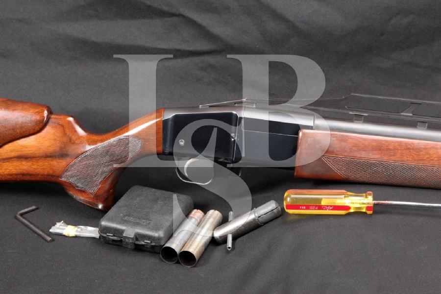 "Ljutic Industries Mono 43, Blue 33 3/8"" Auto Extraction Single Shot Trap Shotgun MFD 1980s"