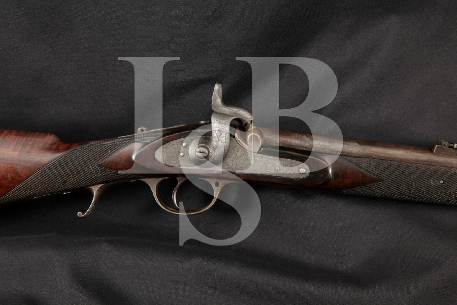"""London Armoury L.A. Co. Whitworth Match Model, Possible Confederate Sniper, Engraved 35"""" Single Shot Percussion Rifle, MFD 1862 Antique"""