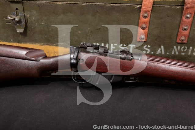 Long Branch Enfield No.4 Mk1* (T) Canadian Sniper .303 Bolt Action Rifle MFD 1945 C&R & Wood Case