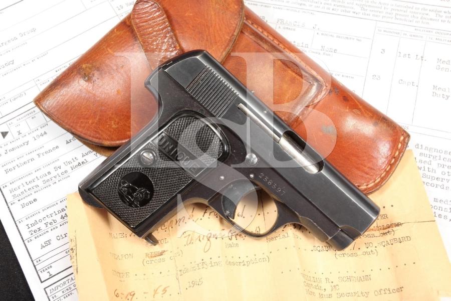 MAPF  Unique Model 10 .32 ACP Documented Bringback WWII Semi Auto Pistol - C&R OK