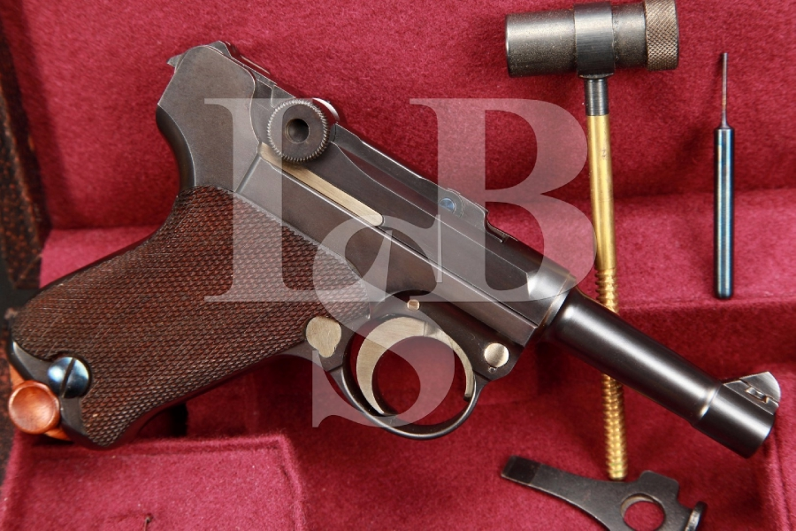 MINT SERIAL NUMBER 6 Cased Krausewerk Baby Luger 3 INCH Semi Automatic Pistol, John Krause MFD 1999