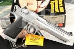 "Magnum Research Model Desert Eagle MK XIX Mark 19, Chrome 6"" SA Semi-Automatic Pistol, Box & More, MFD 1996"