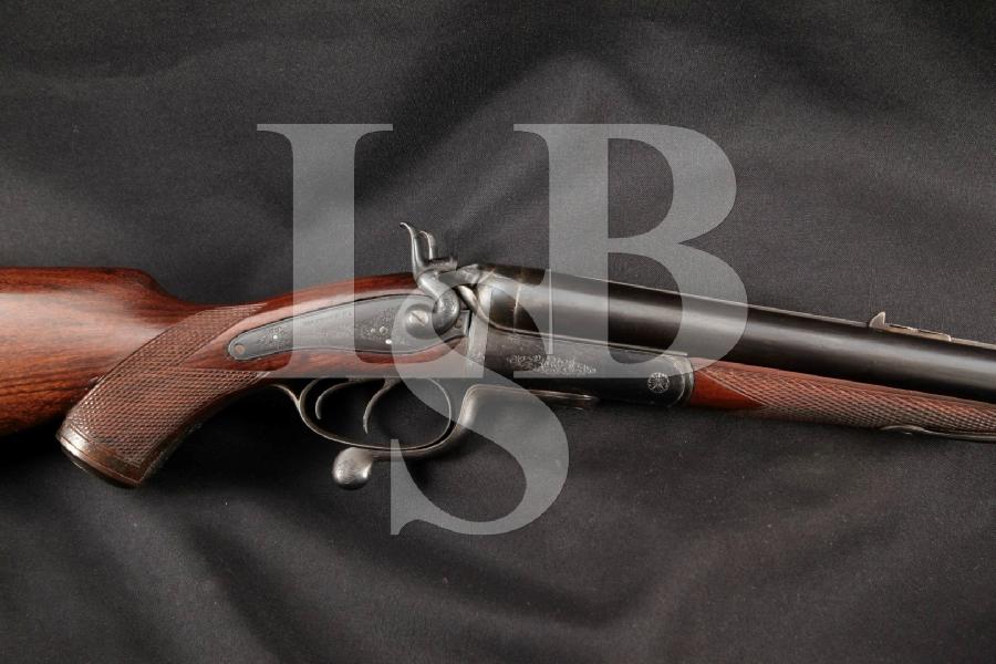 "Manton & Company, London & Calcutta Big Game Safari, Blue 27"" Underlever External Hammer Double Rifle, Antique"