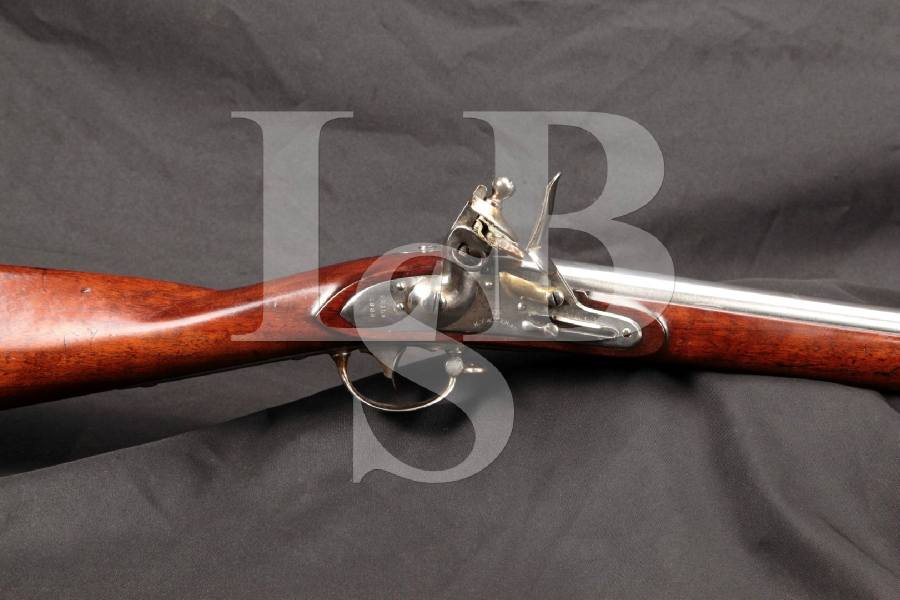 "Marine T. Wickham US Military Marked Model 1816 'National Armory Bright' Musket, 42"" Original Flintlock Long Rifle, MFD 1835 Antique"