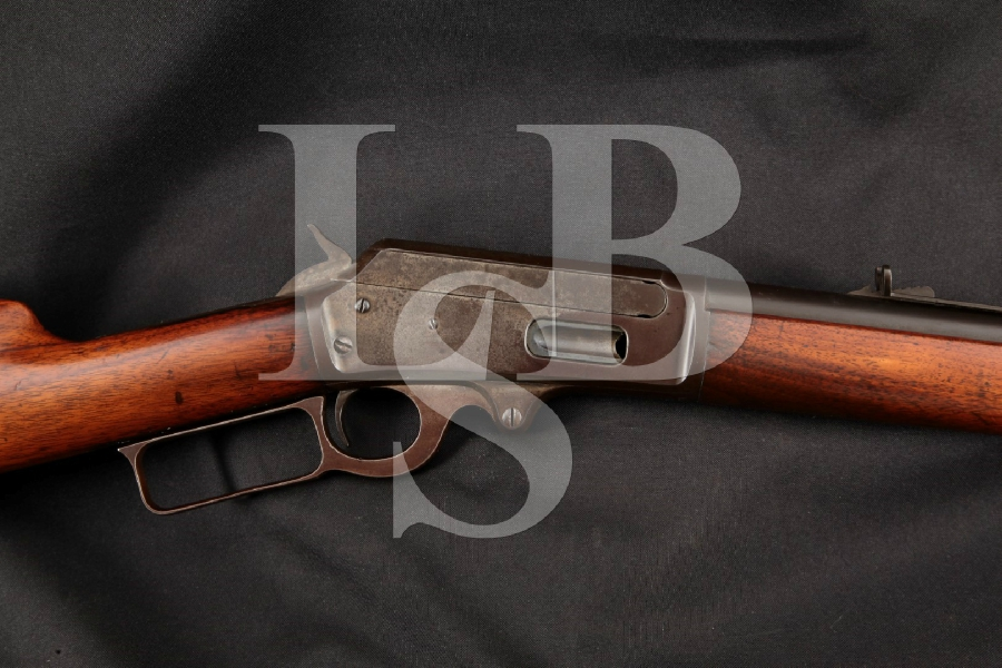 """Marlin 1893 M1893 Model, Blue & Case Colored Round 26"""" Lever Action Tube Magazine Fed Rifle, MFD 1899 C&R"""