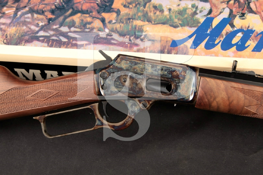 """Marlin 1894 Century Limited Commemorative Model, Blue & Case Colored 24 ¼"""" Lever Action Tube Fed Rifle & Box, MFD 1994"""