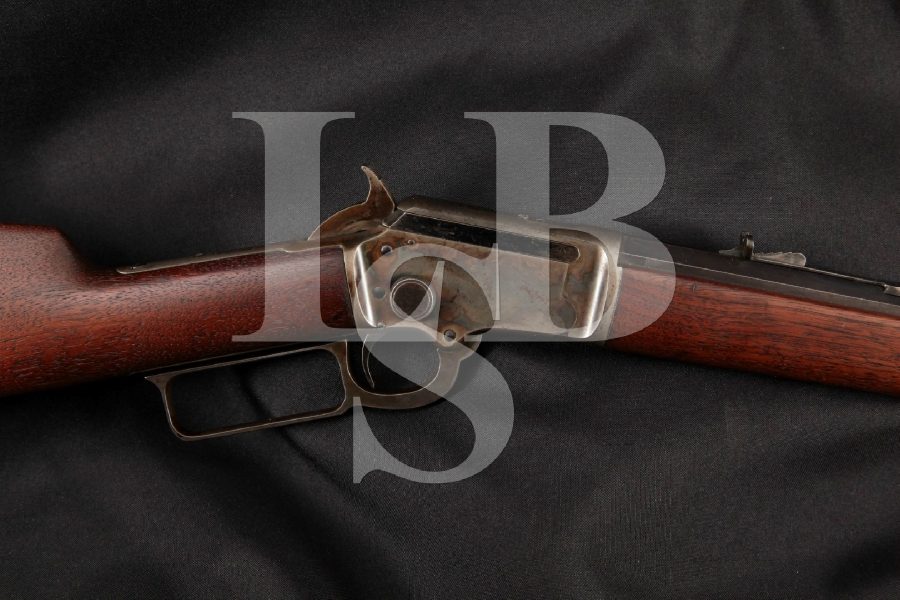 """Marlin 97 1897 Takedown Model, Beautiful Blue & Case Colored Octagonal 24"""" Lever Action Tube Fed Rifle, MFD Early 1910's C&R"""