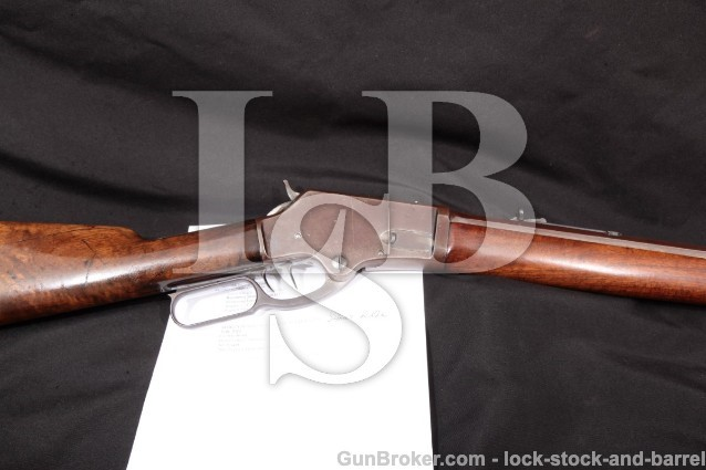 "Marlin Firearms Model 1881 Short Rifle, .40-60 Win W.A. Fish Marked 24"" Octagon, Set-Trigger, 1885"