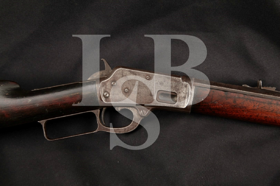"Marlin Model 1888 M1888, 1 of 4,312, Blue Octagonal 24"" Lever Action Tube Fed Rifle, MFD 1889 Antique"