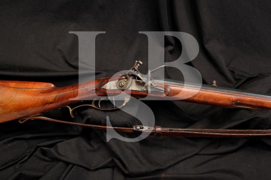 Mathias Tieffenbrunner .50 Cal Single Shot Set Flintlock Sporting Rifle - Antique