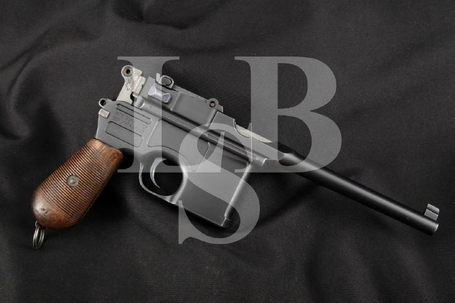 "Mauser 1896 C96 Broomhandle Persian Contract Mauser, Blue 5.5"" Restored Semi-Automatic Pistol, MFD 1910 C&R"